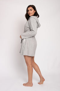 Organic Cotton Robe in Grey