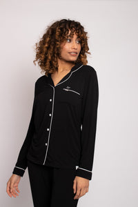 Bamboo Pajama Set in Black