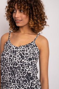Bamboo Cami Short Pajama Set in Luxe Leopard-Sleepwear-J Steed