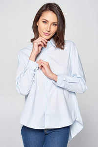 LONG SLEEVE BUTTON UP COLLARED SHIRT