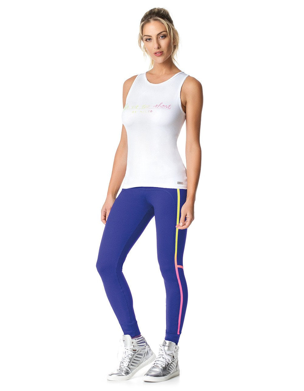 TANK TOP 247 LIFE WHITE-Activewear-J Steed