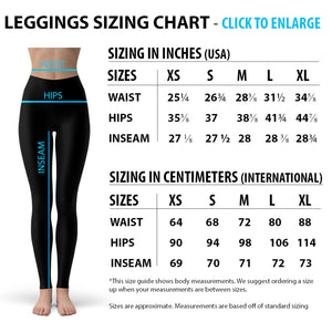 Blue Hearts on Heart Leggings-Leggings-J Steed