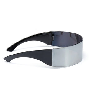 Futuristic Wrap Around Plastic Sunglasses