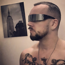 Load image into Gallery viewer, Futuristic Wrap Around Plastic Sunglasses