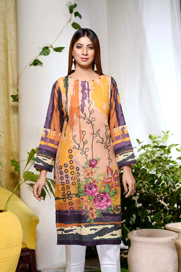 Botanical Wonders - Digital Printed Unstitch Lawn Kurti