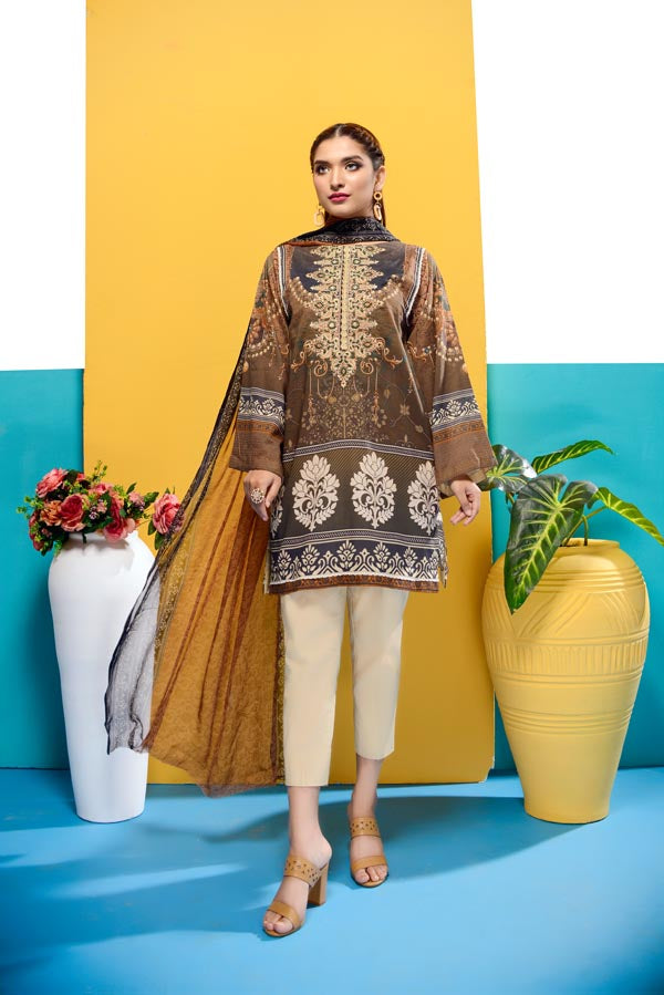 Rowan - Digital Printed and Embroidered Lawn