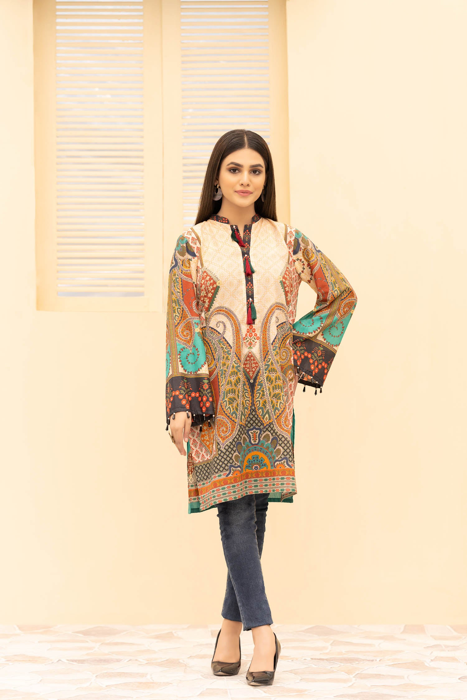 Esen - Digital Printed Stitched Lawn Kurti