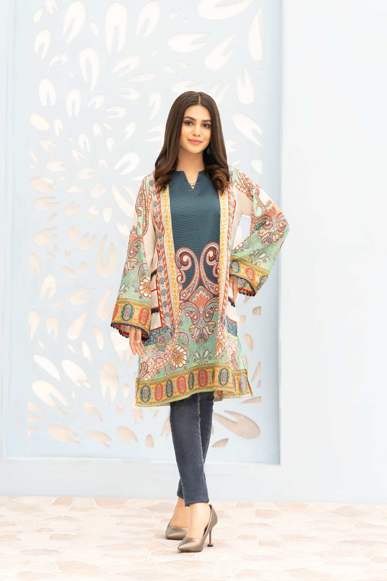 Shilin - Digital Printed Stitched Lawn Kurti