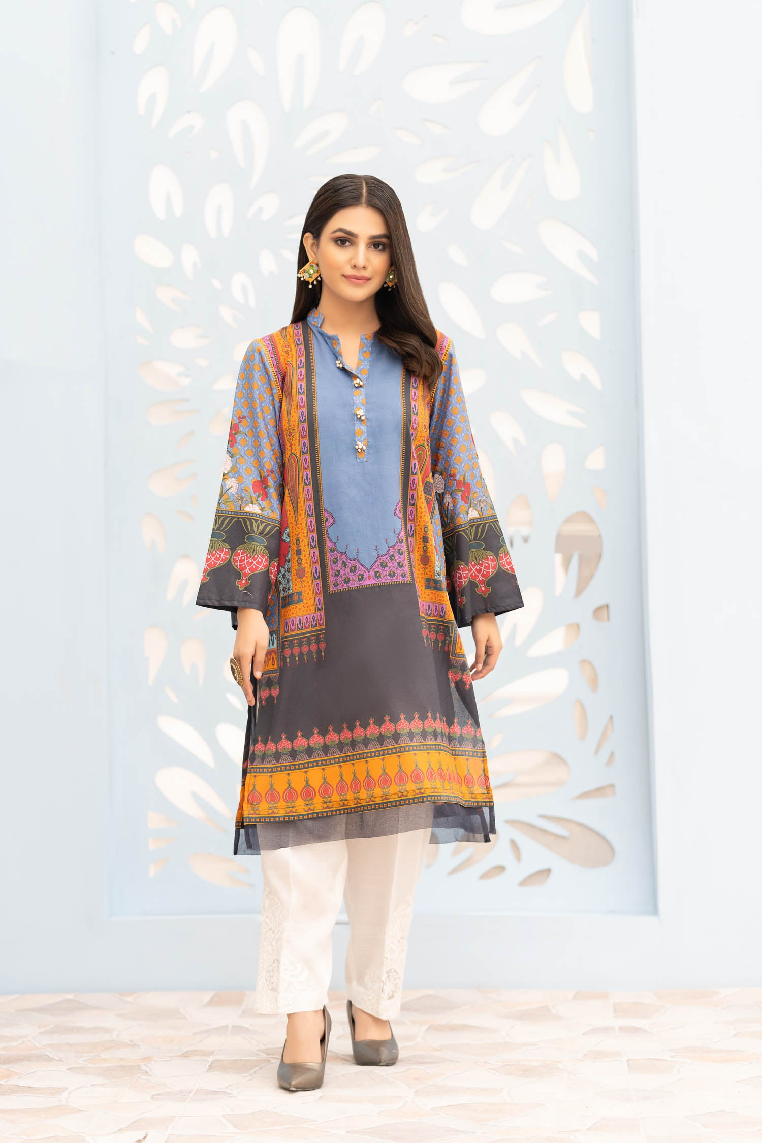 Ipek - Digital Printed Stitched Lawn Kurti