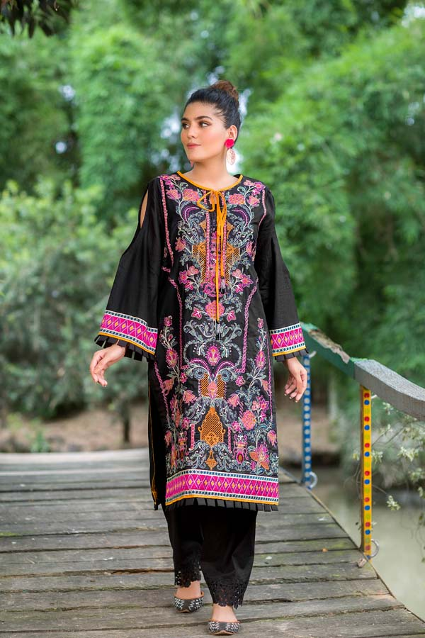 Jetlus - Embroidered Lawn 2PC Unstitched