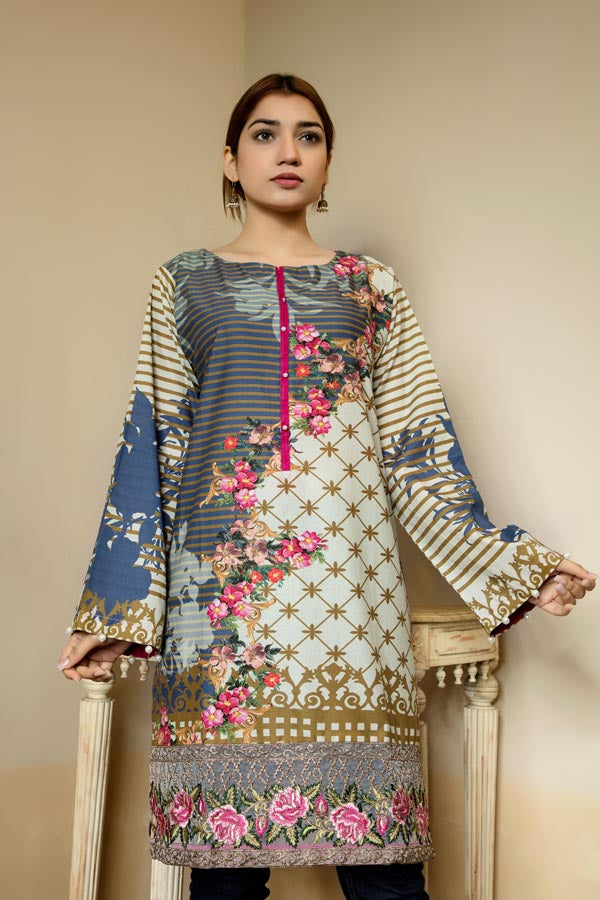 Maple - Stitched Lawn Kurti