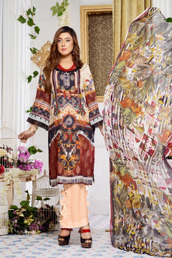 Pulmonaria - Digital Printed Jacquard Lawn