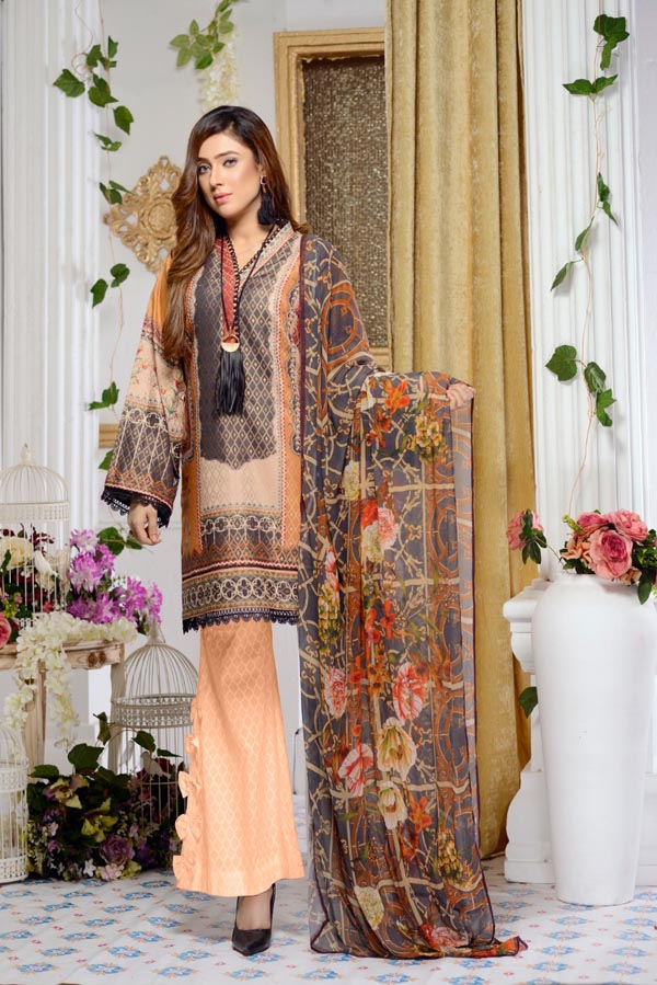 Columbine - Digital Printed Jacquard Lawn