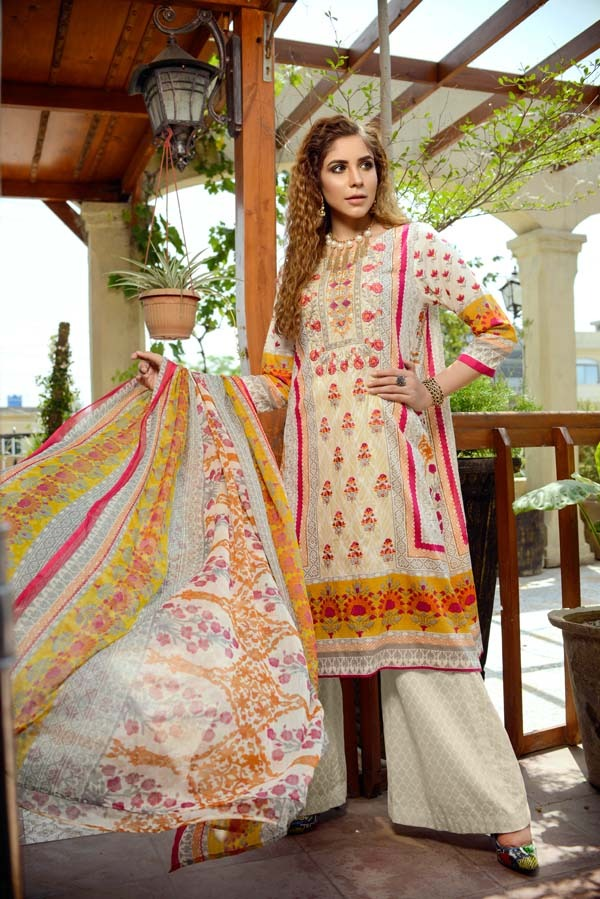Fancy - Printed and Embroidered Lawn