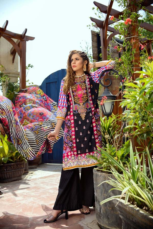Feldspar - Printed and Embroidered Lawn