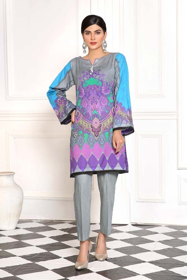 Spun Pearl - Digital Printed Lawn Shirt (Unstitch)