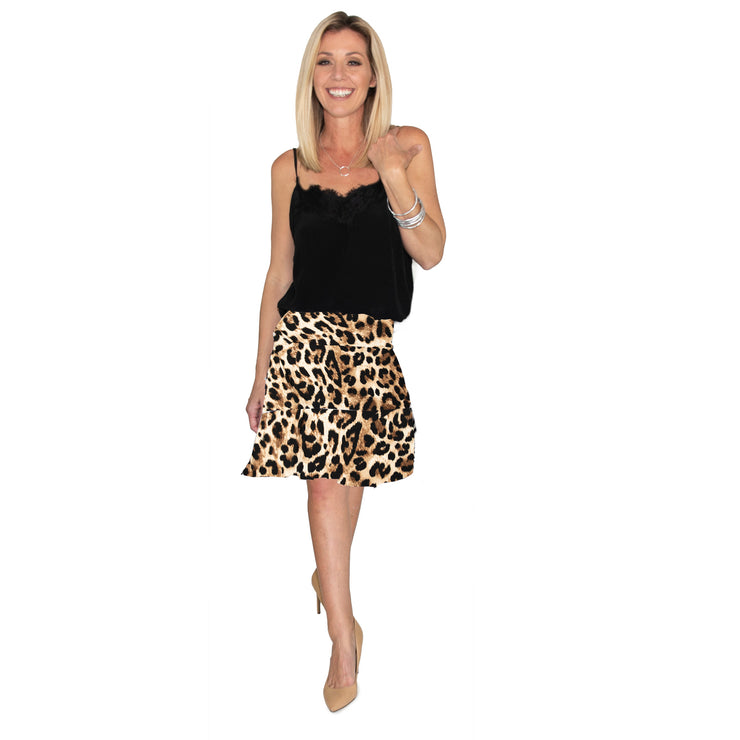 Bella Skirt - Leopard