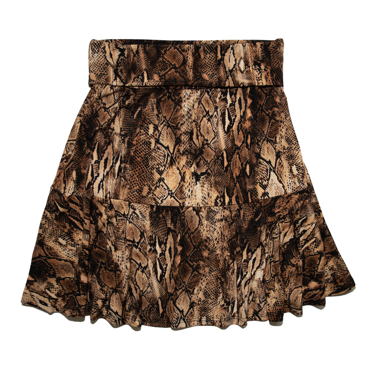 Shop TBYB - Bella Skirt - Desert Snakeskin