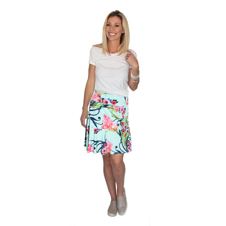 TBYB (Stylist) - Bella Skirt - Blue Ice Floral