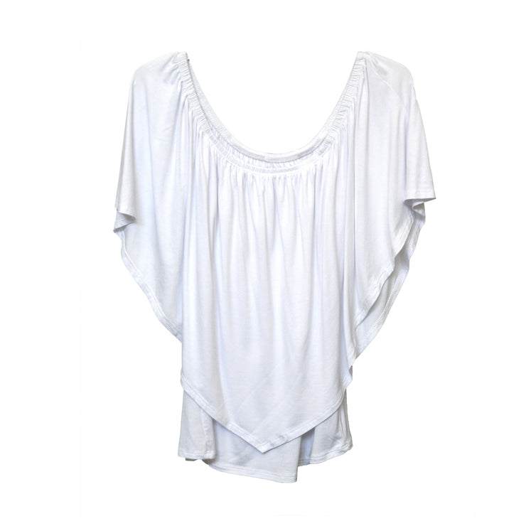 Ross Off Shoulder Top - White // Redeem 50% Off