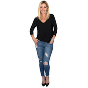 Bacall V-Neck Top - Black // Redeem 50% Off