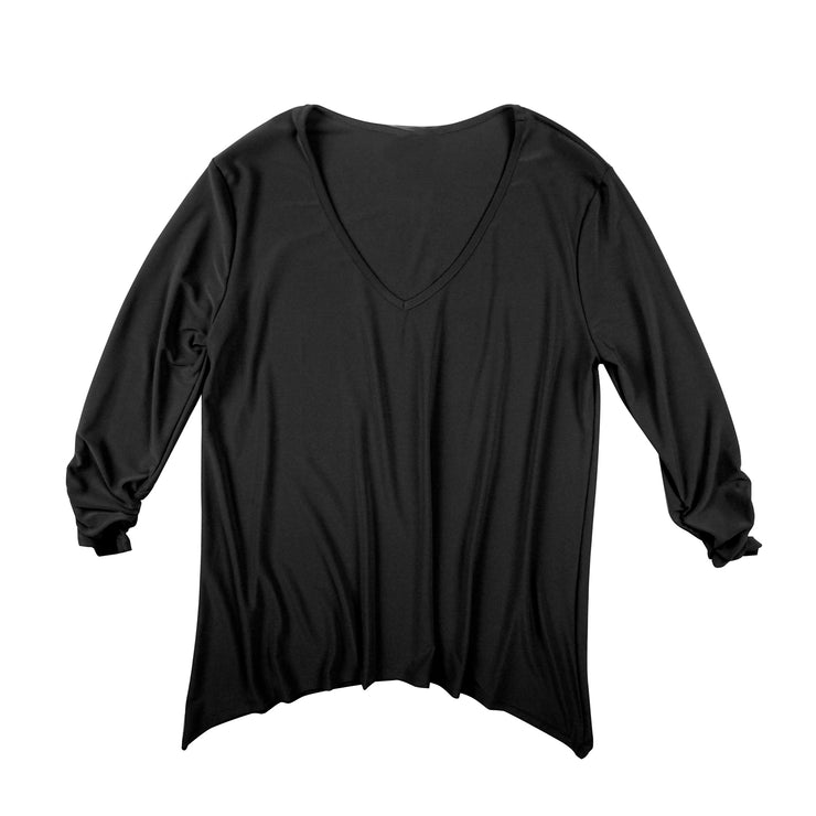 Bacall V-Neck Top - Black