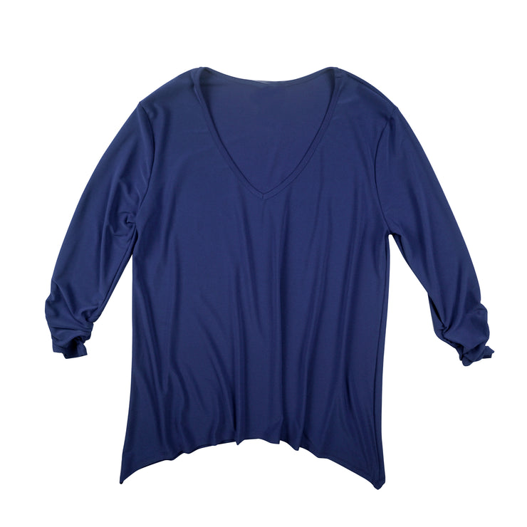 TBYB (Stylist)- Bacall V-Neck Top - Navy
