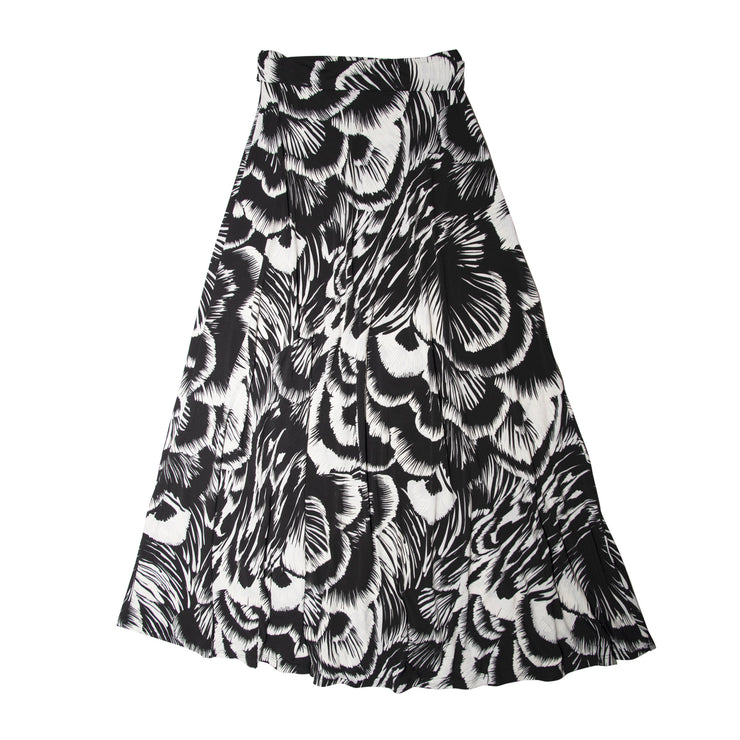 Bardot Skirt - Black Feather