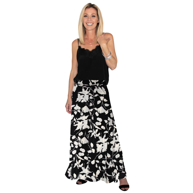 TBYB (Stylist) - Bardot Skirt - Black and White Tulip