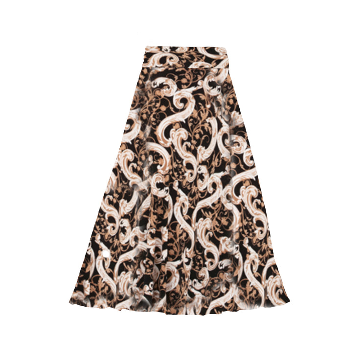 Bardot Skirt - Black & Tan Scroll // Redeem 50% Off