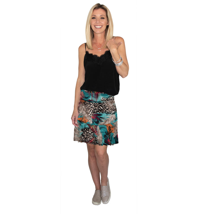 Bella Skirt - Peacock // Redeem 50% Off