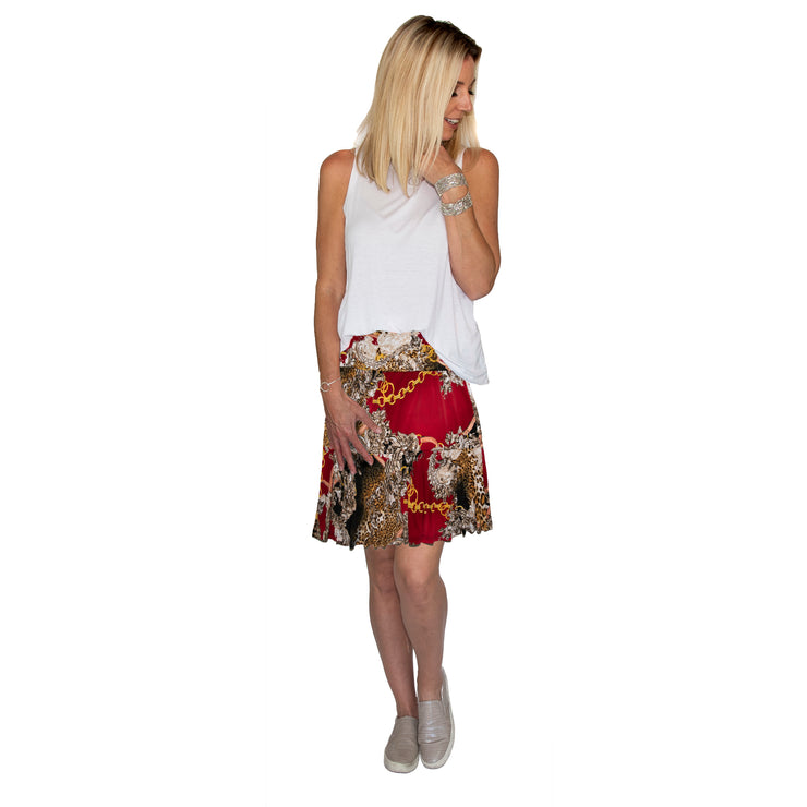 TBYB - Bella Skirt - Red Chain // Redeem 50% Off