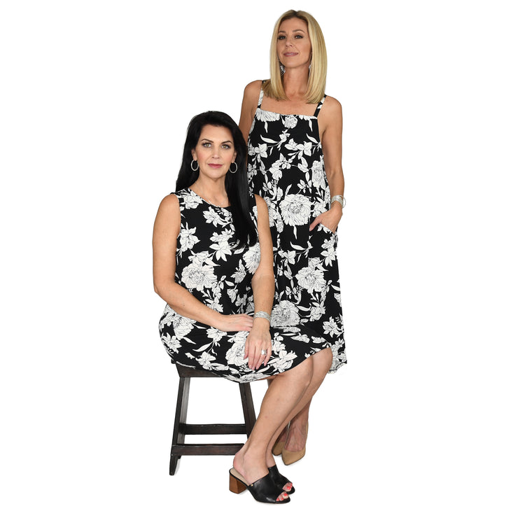 TBYB - Campbell Pocket Dress - Black & White Floral // Redeem 50% Off