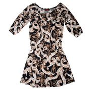Crawford Romper Dress - Black & Tan Scroll // Redeem 50% Off