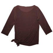 TBYB - Grace Boat Neck Top - Brown // Redeem 50% OFF
