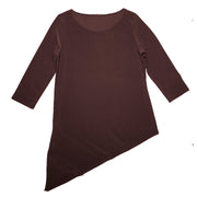 Grace Boat Neck Top - Brown