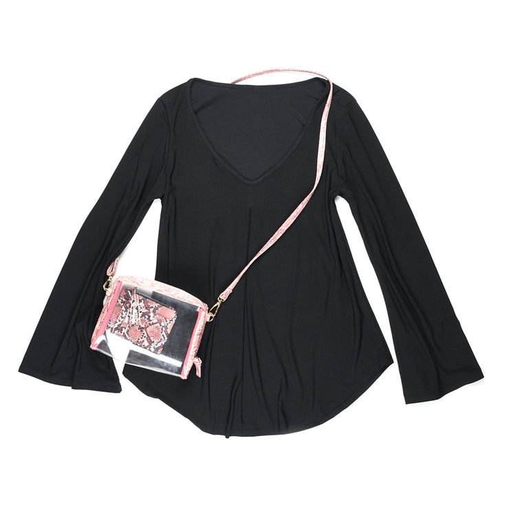 Hutton Bell Sleeve Top - Black // Redeem 50% Off