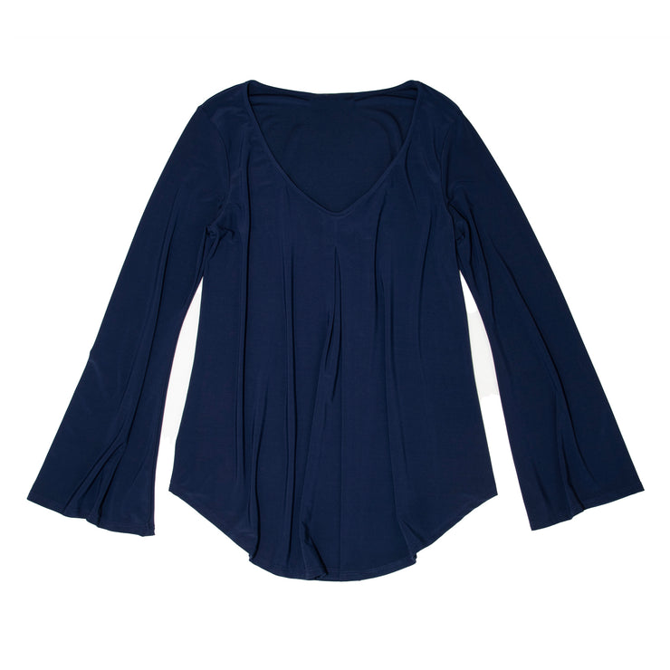 Hutton Bell Sleeve Top - Navy