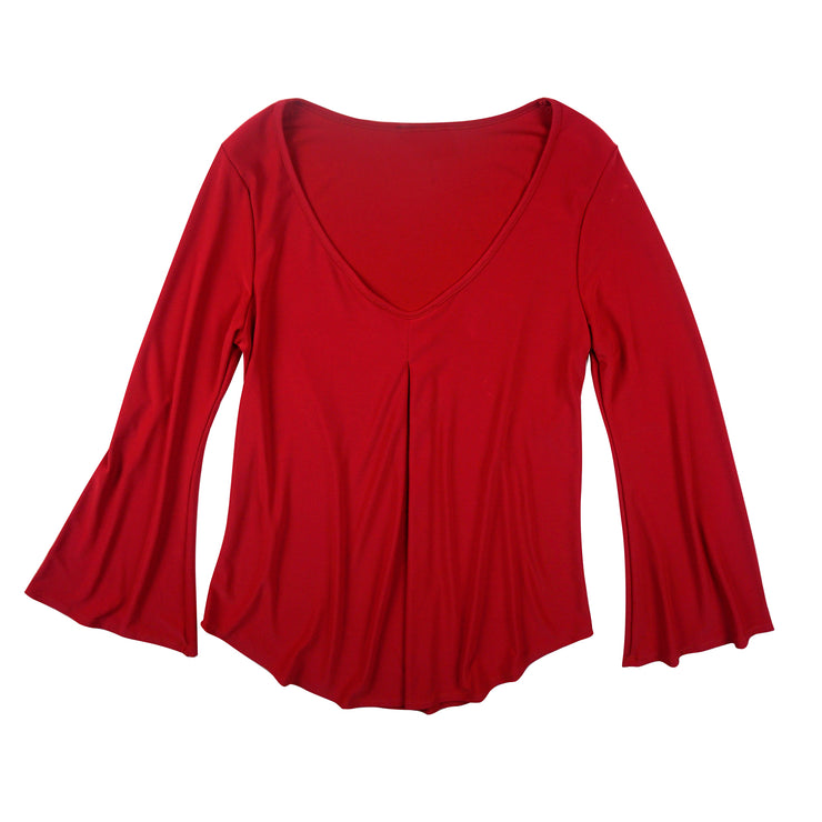 TBYB (Stylist) - Hutton Bell Sleeve Top - Red
