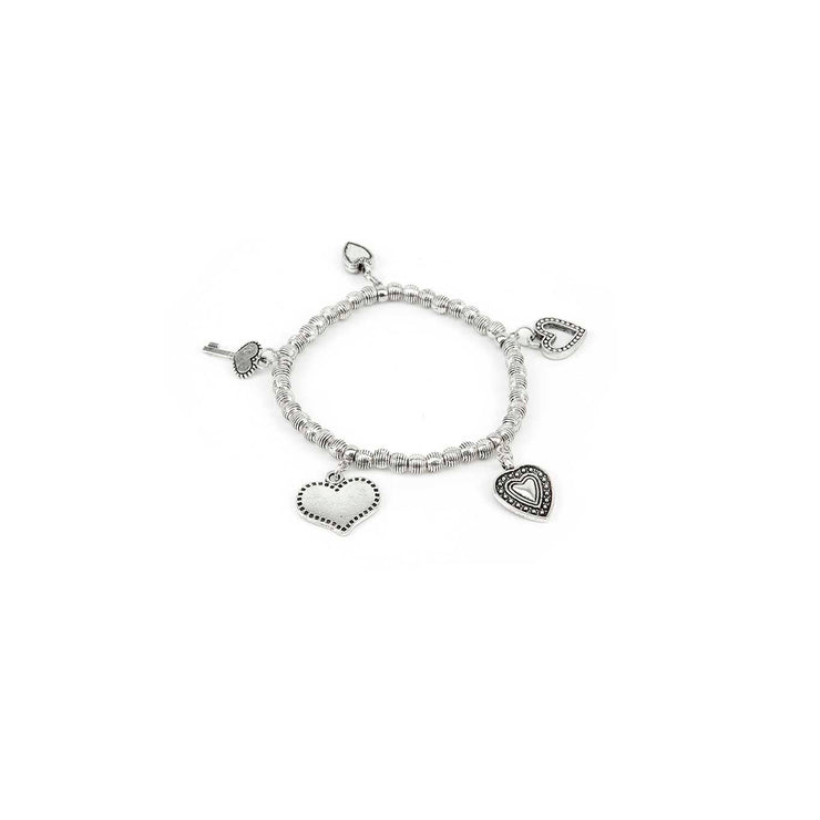 Modadia - Heart and Key Bracelet