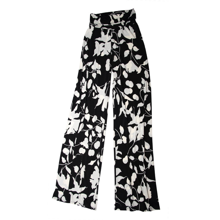 Keaton Palazzo Pants - Black and White Tulip