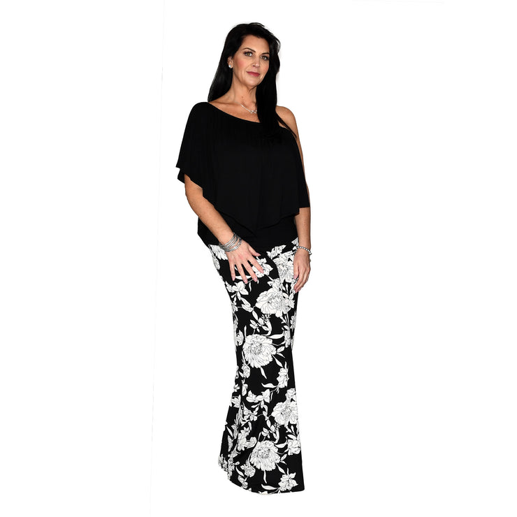 Keaton Palazzo Pants - Black & White Floral // Redeem 50% Off