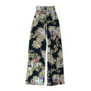 Keaton Palazzo Pants - Navy Scroll // Redeem 50% Off