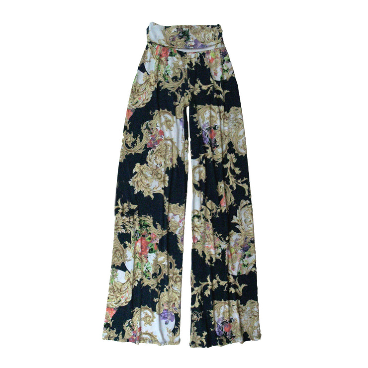 TBYB (Stylist) - Keaton Palazzo Pants - Navy Scroll