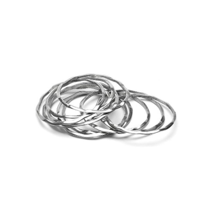 Modadia - Silver Bangles (set of 6) // Redeem 50% Off