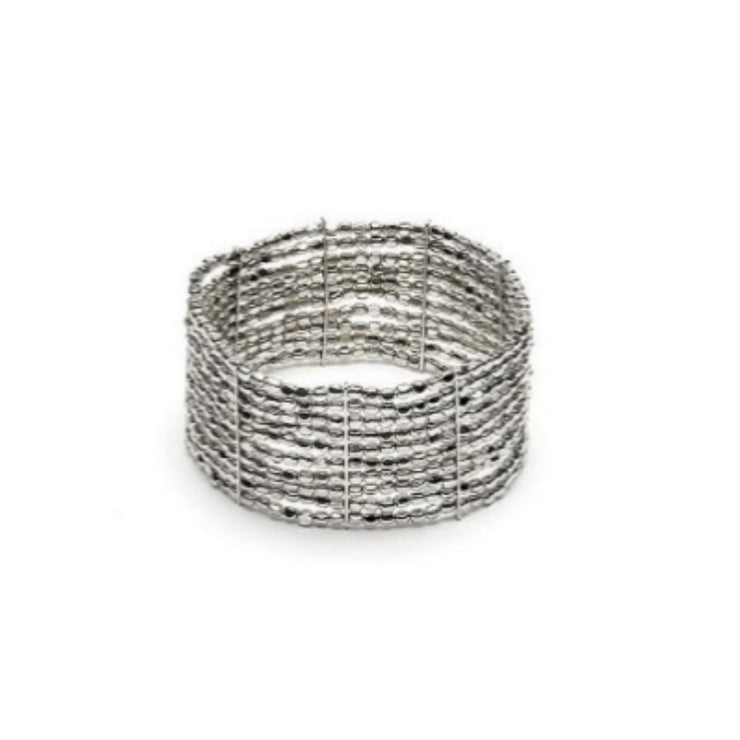Modadia - Silver Stretch Band Bracelet