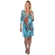 Monroe Wrap Dress - Blue Storm
