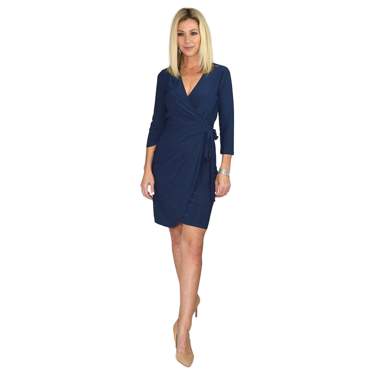 Shop TBYB - Monroe Wrap Dress - Navy