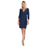 Monroe Wrap Dress - Navy