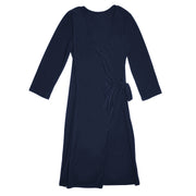 Monroe Wrap Dress - Navy // Redeem 50% Off